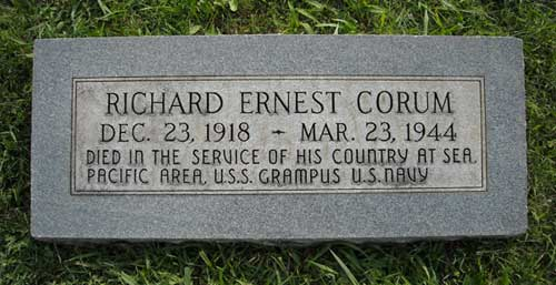 Richard Ernest Corum - Marker