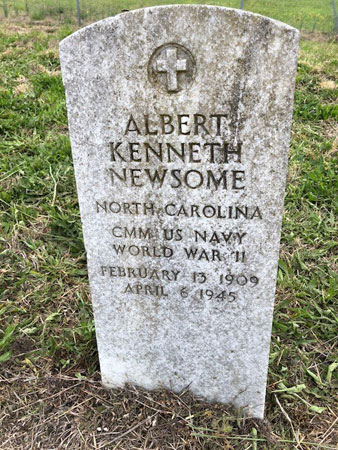 Albert Kenneth Newsome marker