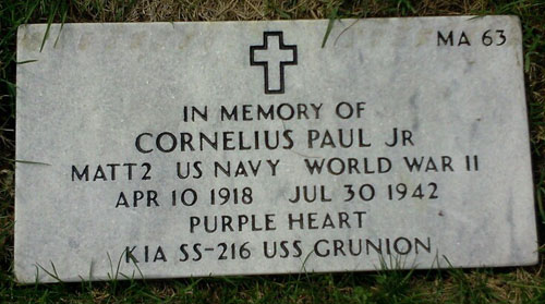 Cornelius Paul, Jr. marker